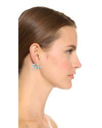 Noir Jewelry - Metallic Sphere Ear Jackets - Gold/turquoise - Lyst