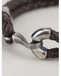 Bottega Veneta - Gray Woven Bracelet for Men - Lyst