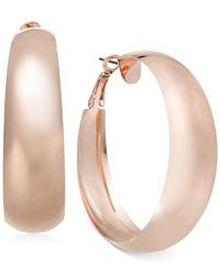 INC International Concepts | Pink Rose Gold-Tone Wide Hoop Earrings | Lyst