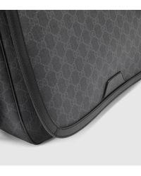 6e8f8f0f4ac Gucci Gg Supreme Canvas Messenger Bag in Gray for Men - Lyst