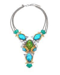 Alexis Bittar | Blue Turquoise Chalcedony Olmeca Bib Necklace | Lyst