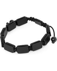 Nialaya - Black Matte Onyx Beaded Bracelet - Lyst