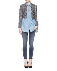 Alice + Olivia Gray 'madine' Tweed Crop Blazer