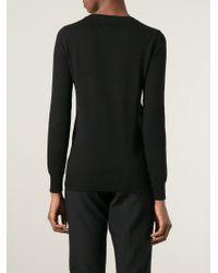 Markus Lupfer Black Sequin Pineapple Sweater