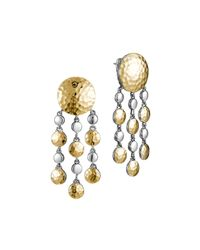 John Hardy | Metallic Palu Gold/Silver Chandelier Earrings | Lyst
