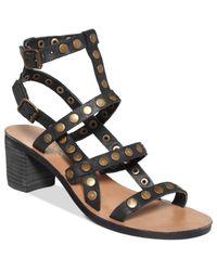 Denim Amp Supply Ralph Lauren Lexi Sandals In Black Lyst