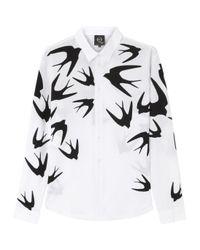 McQ | Natural Swallow Print Poplin Shirt for Men | Lyst