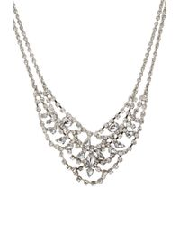 Forever 21 - Metallic Layered Rhinestoned Necklace - Lyst