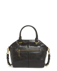 Elliott Lucca | Black 'medium Faro' Leather Satchel | Lyst