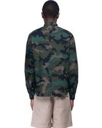 Valentino - Black Camouflage Shirt for Men - Lyst