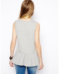 ASOS - White Smock Vest with Dropped Waist - Lyst