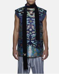 Xander Zhou Multicolor Chinese Pattern Silk Vest for men