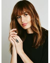 Free People | Metallic Cosmic Stone Ring | Lyst