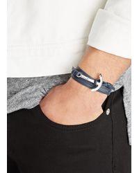 Miansai | Blue Navy Leather Wrap Bracelet for Men | Lyst