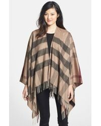 Burberry - Natural Check Print Wool & Cashmere Scarf - Lyst