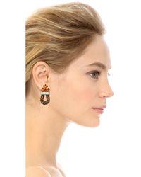 DANNIJO - Brown Amira Earrings - Lyst