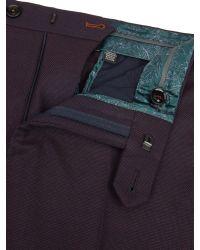 Ted Baker Red Baytro Birdseye Suit Trousers for men