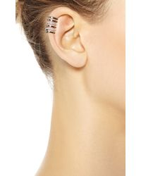 Elise Dray - Cartilage Amour Ear Cuff in Black Gold - Lyst
