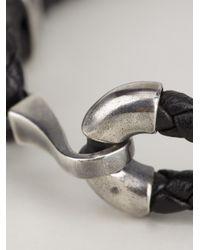 Bottega Veneta | Black Woven Bracelet for Men | Lyst