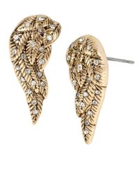 Betsey Johnson - Metallic Heaven Sent Wing Stud Earrings - Lyst