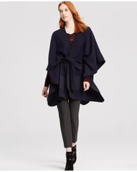 Ann Taylor Blue Belted Cape