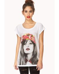 Forever 21 | White Flower Child Graphic Tee | Lyst