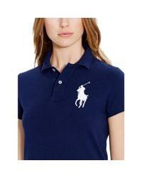 Polo Ralph Lauren Blue Big Pony Mini Shirtdress
