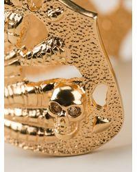 Alexander McQueen Metallic Butterfly Ring