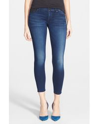 Hudson Jeans | Blue 'krista' Super Skinny Crop Jeans | Lyst