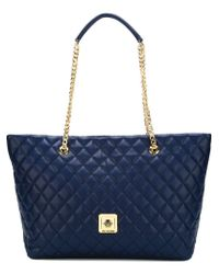 Love Moschino | Blue Quilted Shopper Tote | Lyst