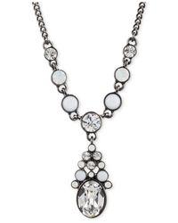 Givenchy - Metallic Hematite-Tone Crystal Opal Y Necklace - Lyst