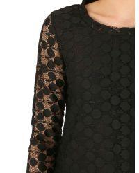 Izabel London | Black Double Layered Net Top | Lyst