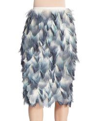 Burberry Prorsum - Blue Dip-dye Petal Pencil Skirt - Lyst