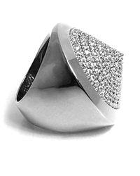 Noir Jewelry | Metallic Pave Cone Pyramid Ring | Lyst