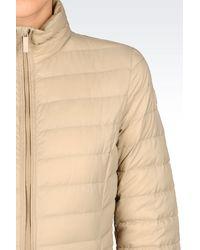 Armani Jeans - Natural Down Coat - Lyst