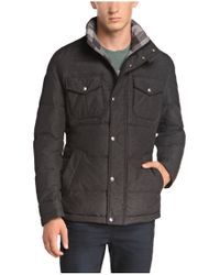 BOSS Orange Gray 'ogaile-w' | Down Quilted Field Jacket for men