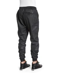 PRPS - Black Resin-coated Terry Fleece Jogger Pants for Men - Lyst