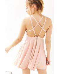 Kimchi Blue Pink Scarlett Fit + Flare Dress