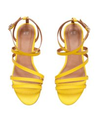 H&M Yellow Strappy Sandals