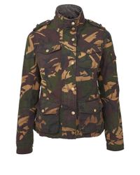 Barbour Green Valiant Camouflage Print Jacket