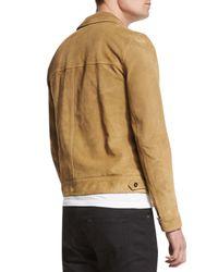 Saint Laurent | Natural Button-down Suede Jacket for Men | Lyst
