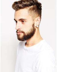 Love Bullets Metallic Lovebullets Claw Stud Earrings for men