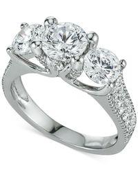 Macy's | Diamond Three-stone Ring (3 Ct. T.w.) In 14k White Gold | Lyst