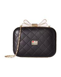 Love Moschino | Black Mini Evening Bag W/ Bow Crossbody | Lyst