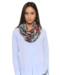 Tory Burch | Green Oversized Floral Scarf | Lyst