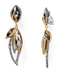Alexis Bittar - Metallic Elements Marquis Pyrite Dangling Clip On Earrings - Lyst