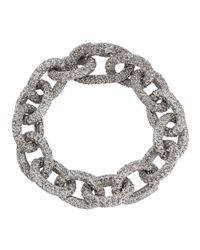 Lisa Freede | Metallic Nikki Glitter Link Bracelet | Lyst