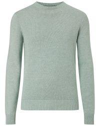 Hackett Green Garment Dye Crew Neck Jumper for men