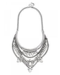 BaubleBar | Metallic Crystal Grendel Bib - Silver | Lyst