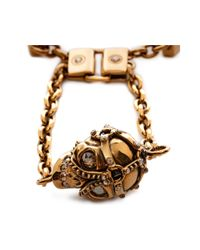 Alexander McQueen - Black Harness Skull Bracelet for Men - Lyst